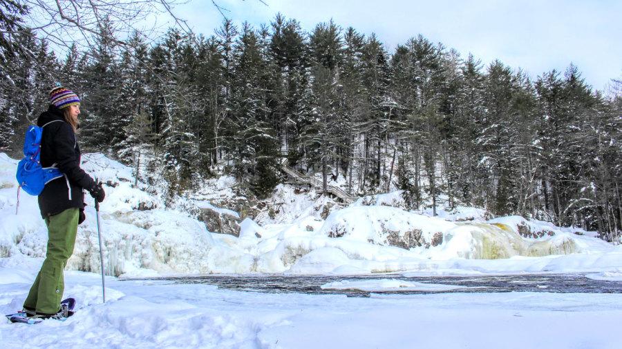 Rando hivernale au parc des Chutes Monte-à-Peine-et-des-Dalles