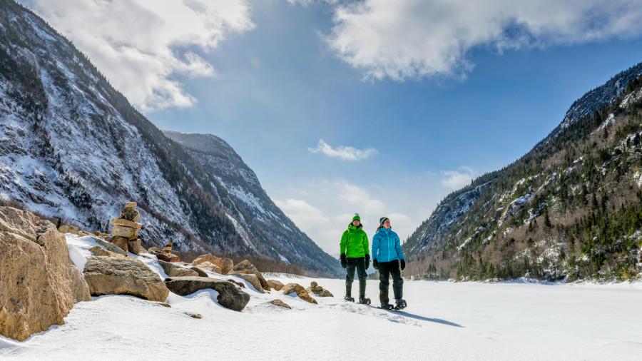 Le parc national des Hautes-Gorges-de-la-Rivière-Malbaie ouvert l'hiver, fin 2018