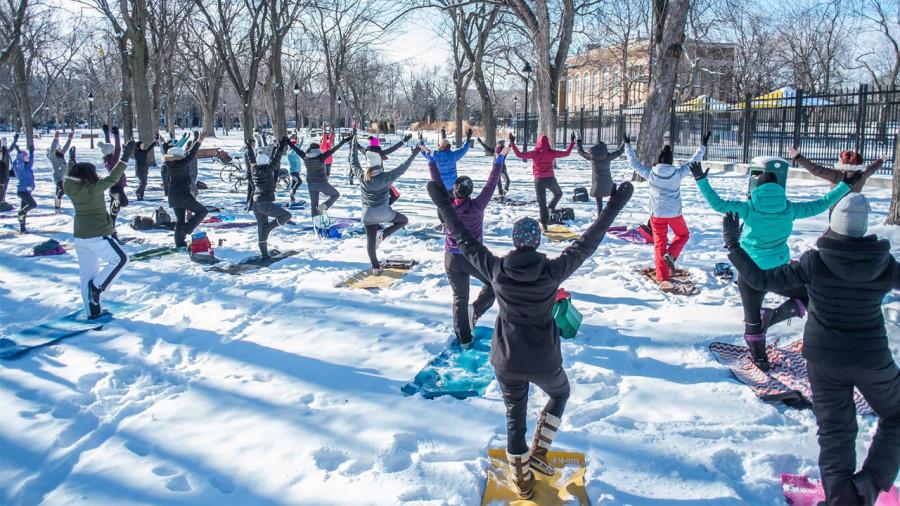 Le yoga neige, ça mange quoi en hiver?