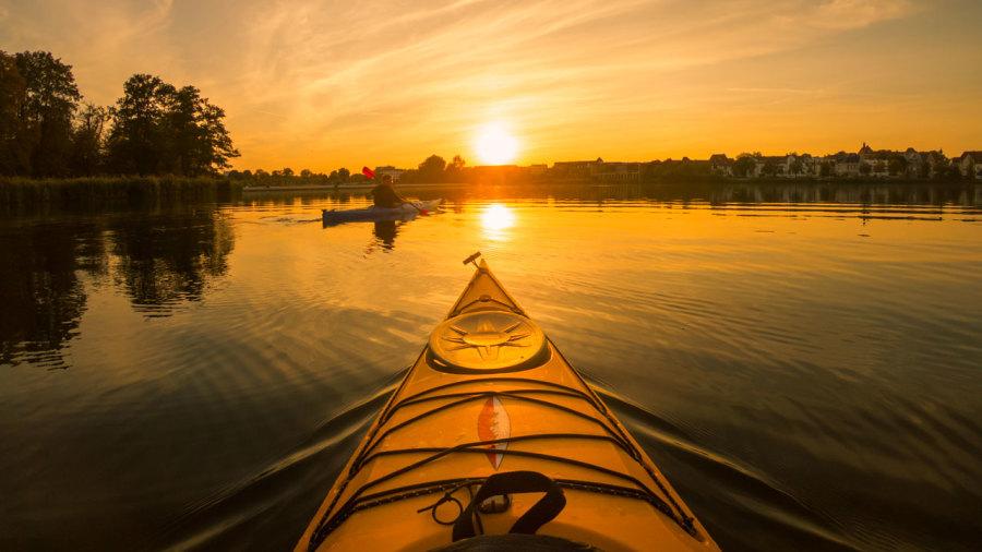 Parc-nature du Bois-de-l'Île-Bizard : Kayak au coucher du soleil