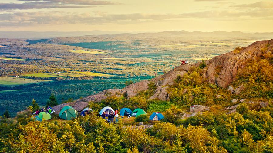 Camping : 3 sommets où poser votre tente au Québec