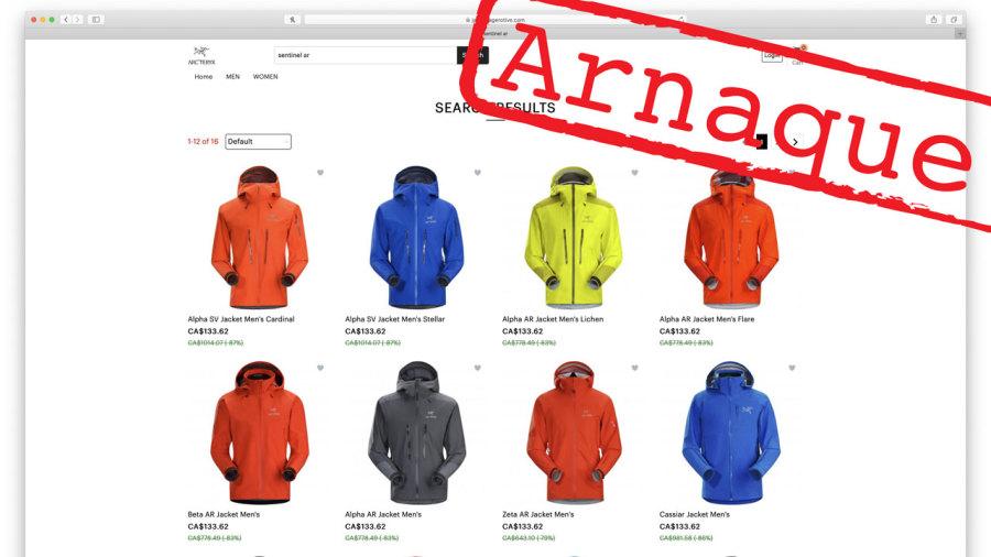 Vêtements techniques à rabais : Êtes-vous sûr de ne pas porter une contrefaçon ?