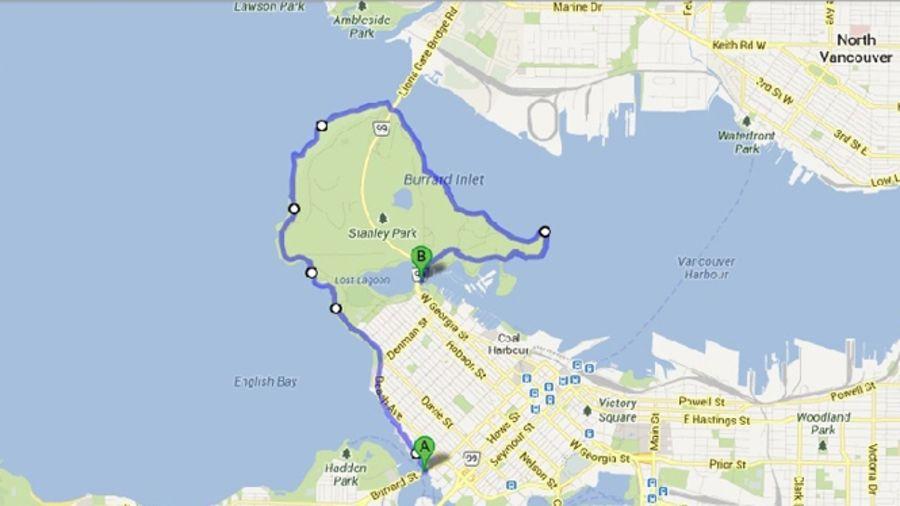 Courir au large : Vancouver, Canada