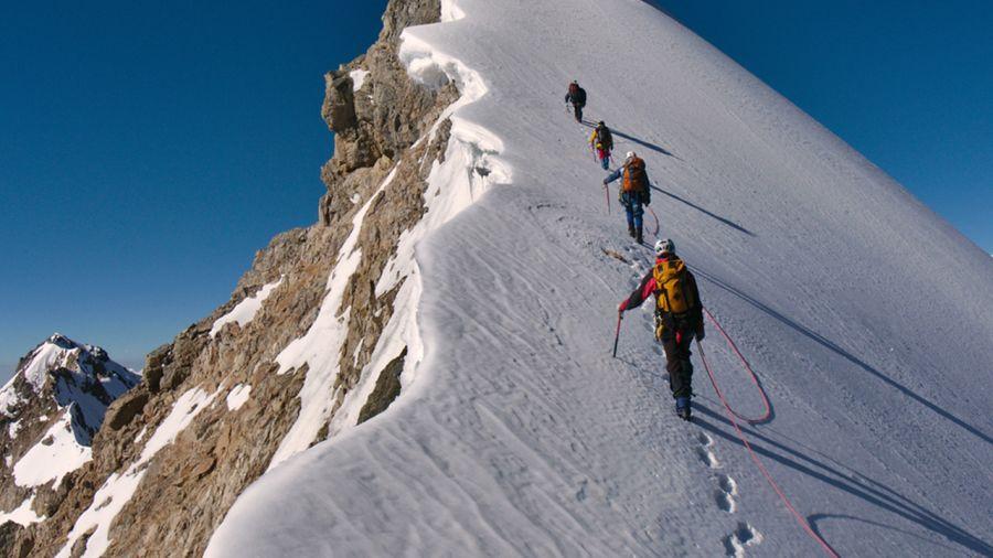 Initiation à l'alpinisme dans les Rocheuses