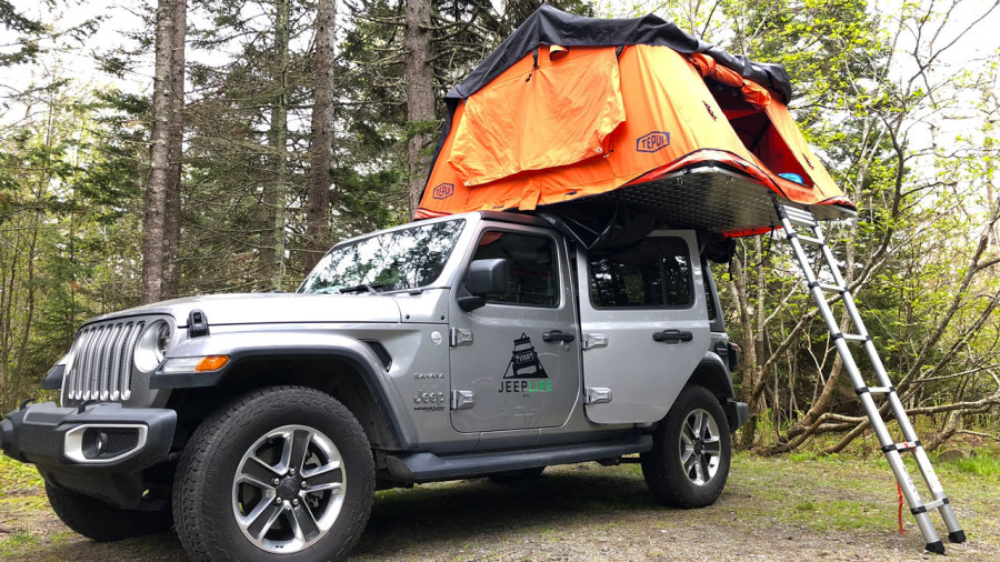 Jeeplife : week-end en tente sur le toit