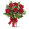 Half Dozen Long Stemmed Red Roses