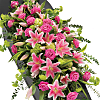Rose & Lily Coffin Spray