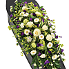 Purple and White Coffin Spray