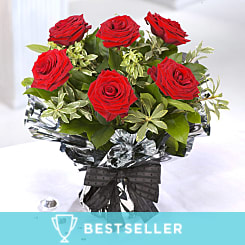 6 Red Roses - Flowers