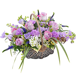 Fabulously Fragrant Basket - Flowers