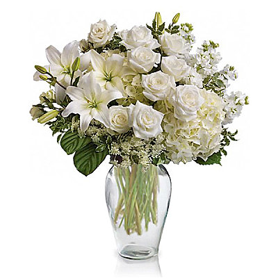 Graceful White Bouquet - Flowers
