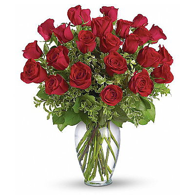 Two Dozen Long Stemmed Red Roses - Flowers