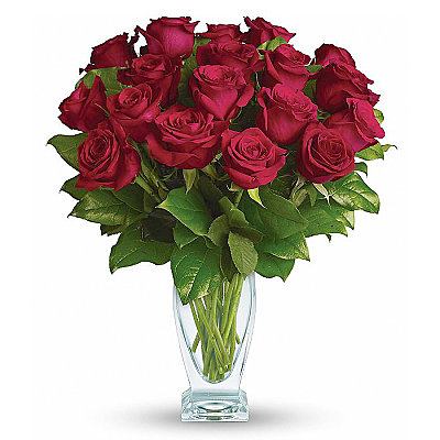 Eighteen Long Stemmed Red Roses - Flowers