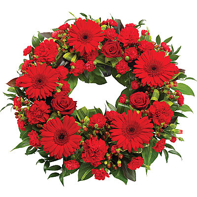 Red Wreath - Flowers