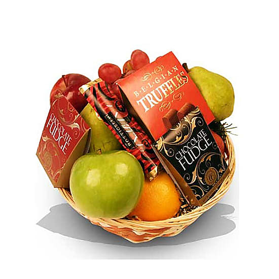 Fruit and Chocolate Gift Basket