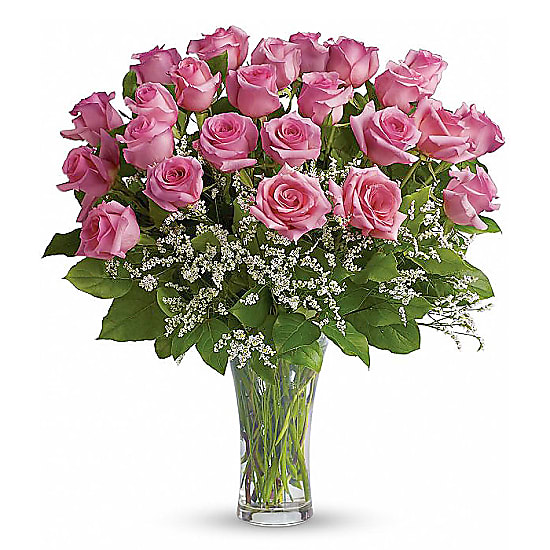 Two Dozen Long Stemmed Pink Roses