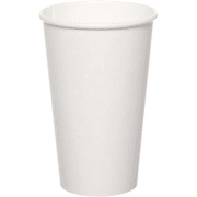 Drikkebeger papp  473 ml, Hvit, Ø 89 mm