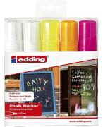 Krittusj EDDING WM 4090 Ass.farger hvit/neon (5pk)