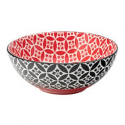 Cadiz Red & Black Bowl (16cm)