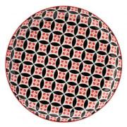 Cadiz Red & Black Plate (20cm)