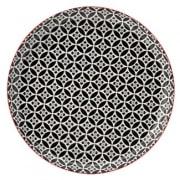 Cadiz Red & Black Plate (27cm)