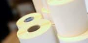 Etikett til termoskriver 74x74mm, rll à 1000 stk
