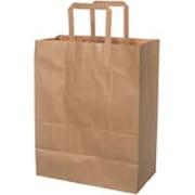 Bærepose papir 16 ltr, Brun