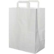 Bærepose hvit 16 lit, papir, hvit