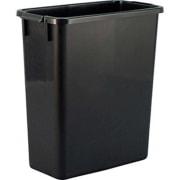 Avfallsdunk 60 ltr - kraftig - rektangulær, svart