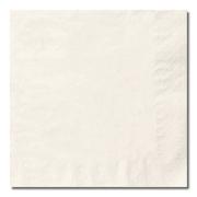 Serviett 2-lag, Hvit (24x24cm, 1/4 ) (2800stk)