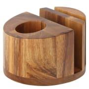 "Acacia Menu/Napkin & Cutlery Holder 5"" (12.5cm)"