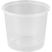 Mikroform 730 ml rund, transp.  (LR*)