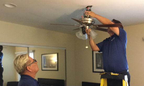 The Benefits Of Ceiling Fan Installation With Serviz