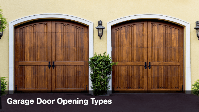 Garage Door Buying Guide   Garage Door Opening Types