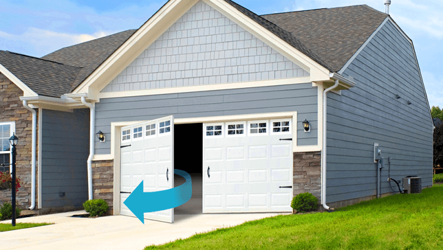 Side Hinge Garage Doors & Garage Door Buying Guide - Garage Door Opening Types