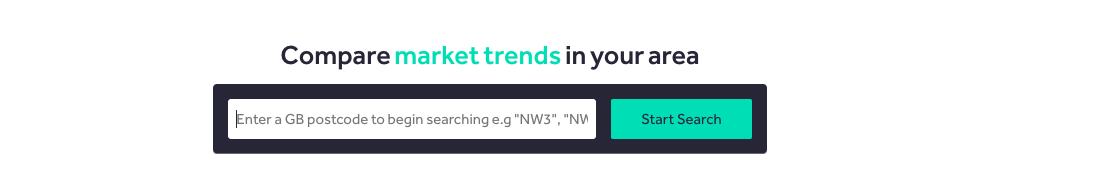 screenshot of rightmove's compare market trends tool