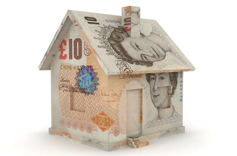 image of house made of british money