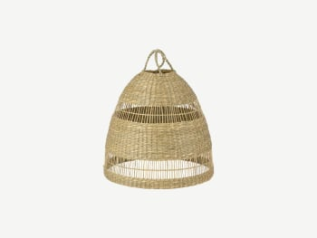 Seagrass lampshade.