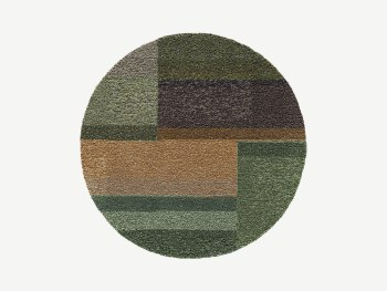 Colorful round rug.