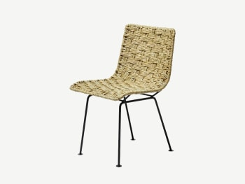 Woven reed chair.