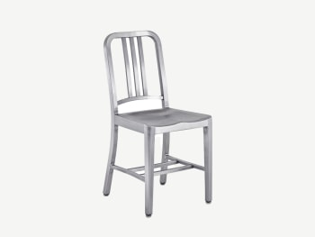 Recycled aluminium chair.