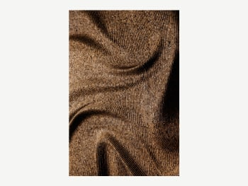 Cork texture with an engraved swirly pattern.