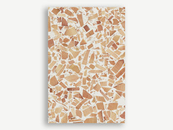 Sample of terrazzo surface made with scrap wood.
