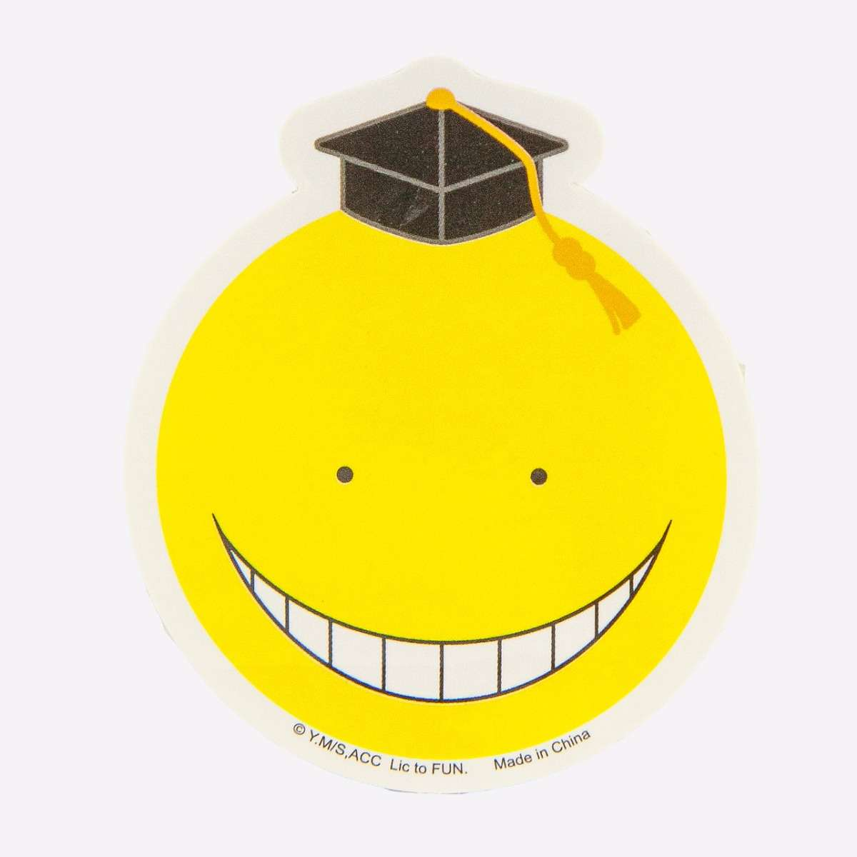 Yellow Koro Sensei Sticker home-decor