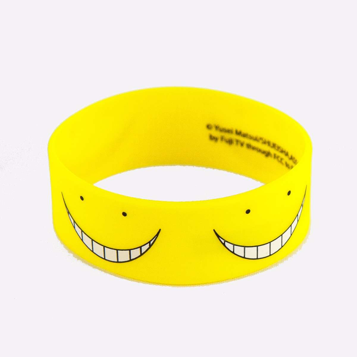 Yellow Koro Sensei PVC Wristband accessories
