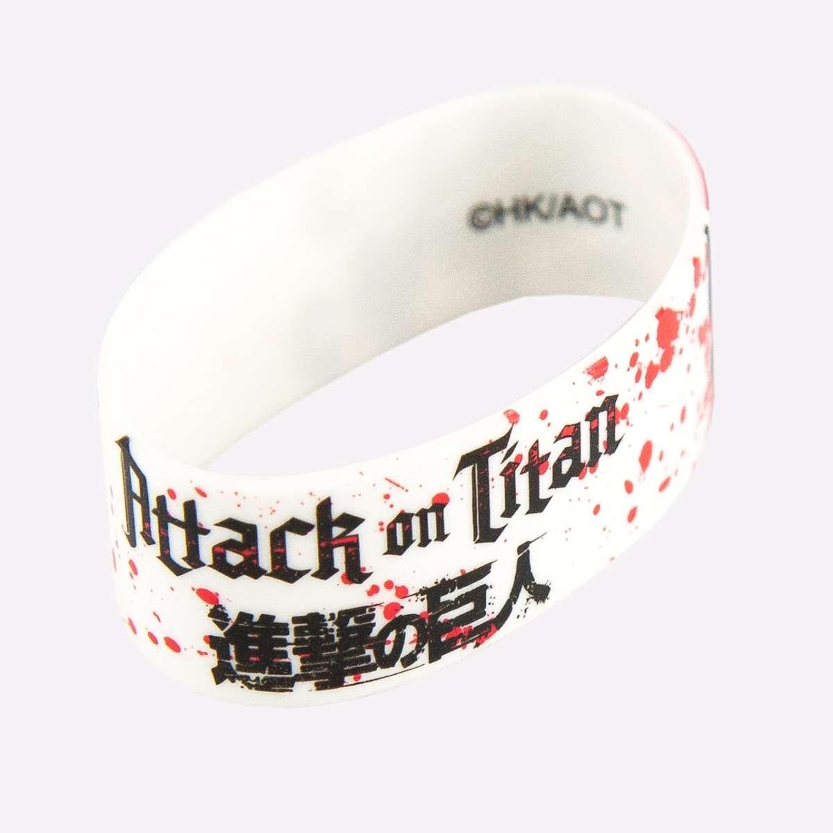 Eren & Levi White PVC Wristband accessories