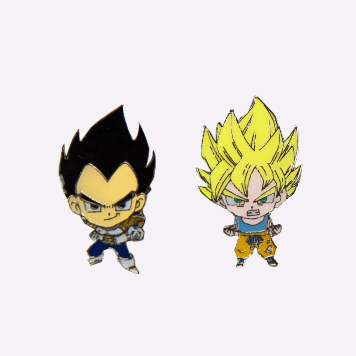 Super Saiyan Goku & Vegeta Mini Pin Set accessories