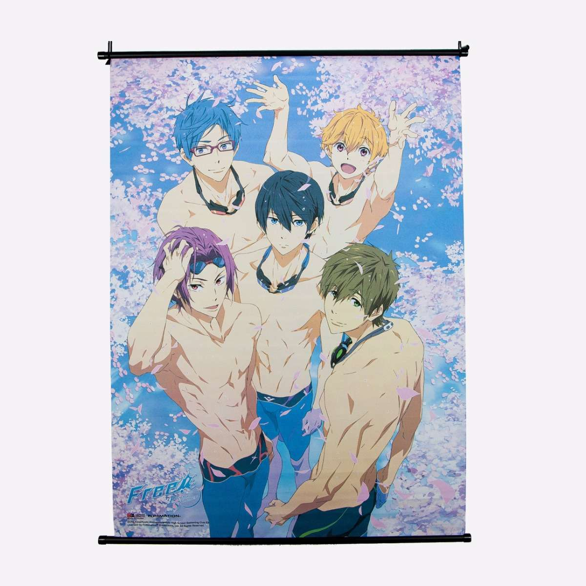 Group in Pool w/Sakura Wall Scroll home-decor