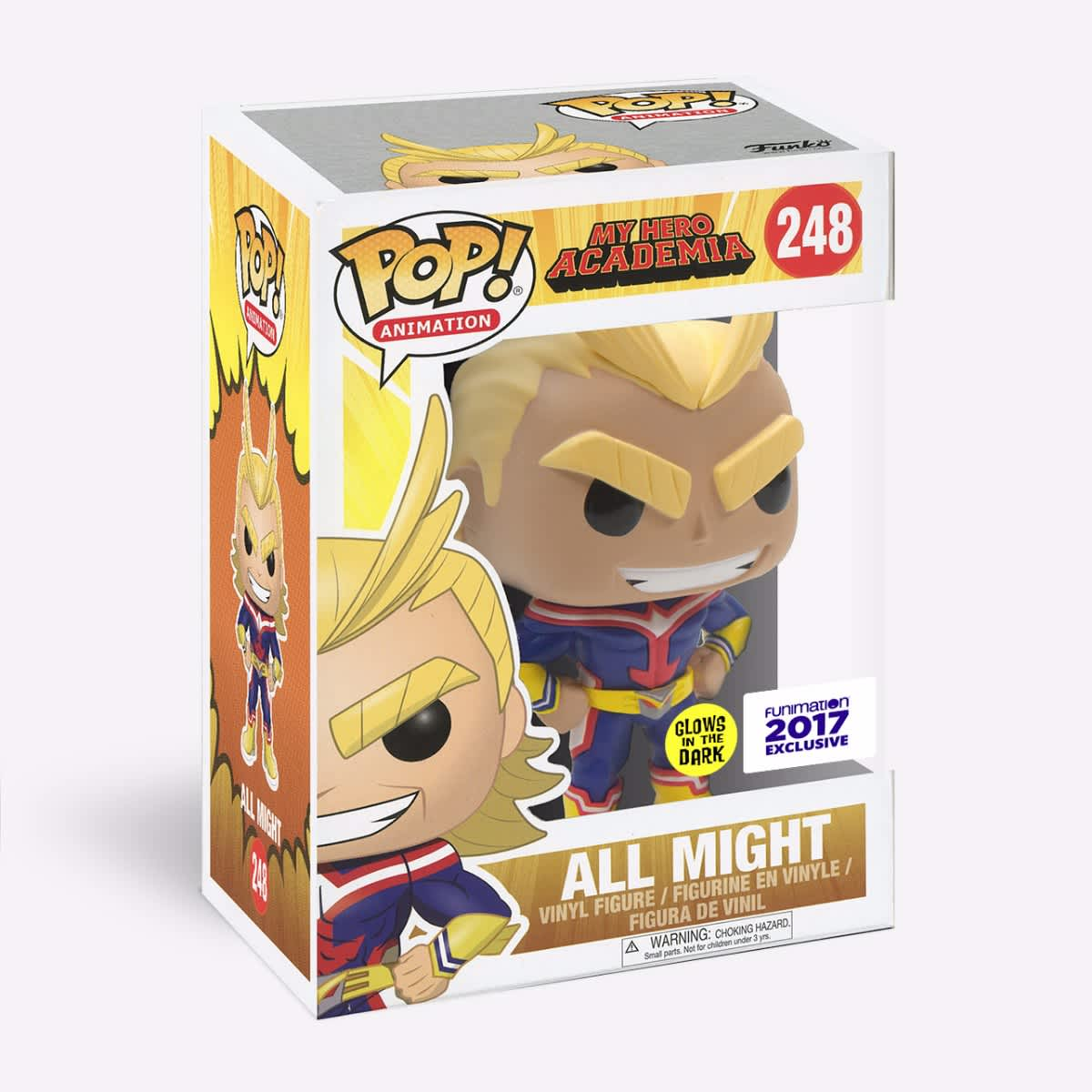 Funko Pop - All Might (Glow in the Dark) figures-collectibles
