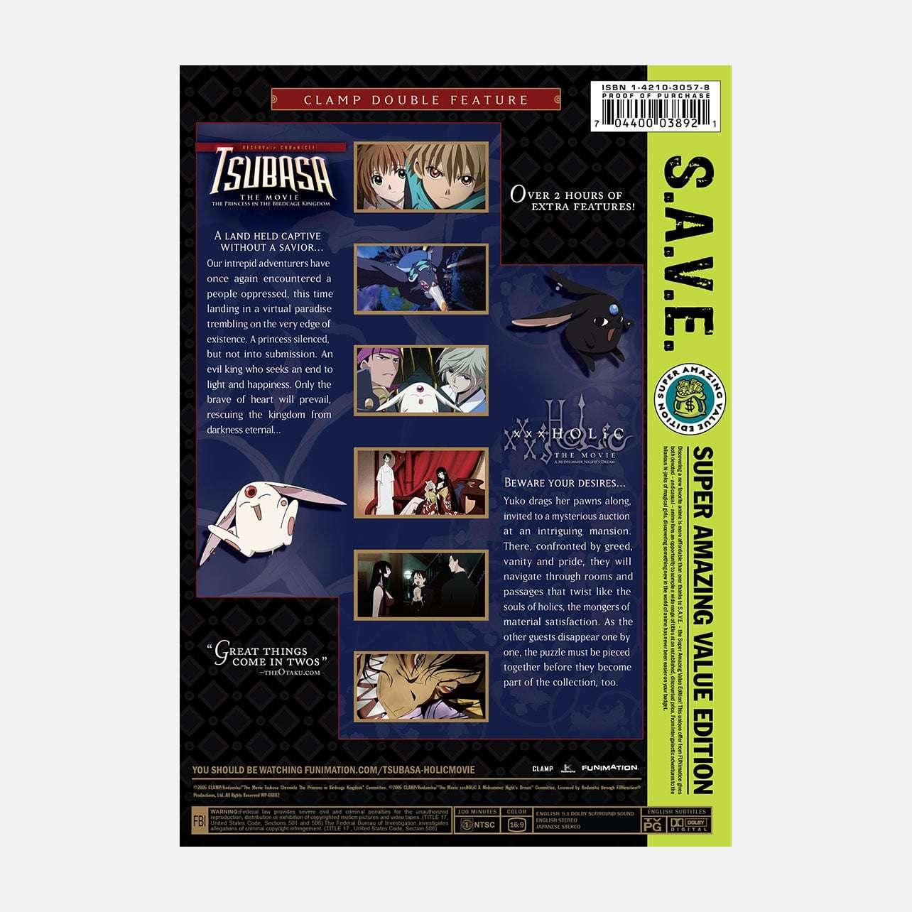 CLAMP Double Feature: Tsubasa And XxxHOLiC Movies S.A.V.E